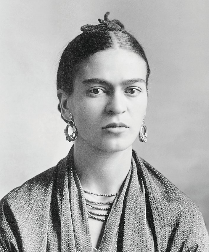 Iconic Mexican artist Frida Kahlo, shown in a photo taken by her renowned photographer father Guillermo Kahlo, will have paintings on display along with works by her husband Diego Rivera at the Denver Art Museum.