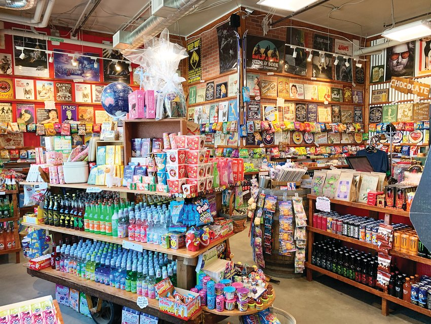 Rocket Fizz offers thousands of candies and hundreds of sodas.