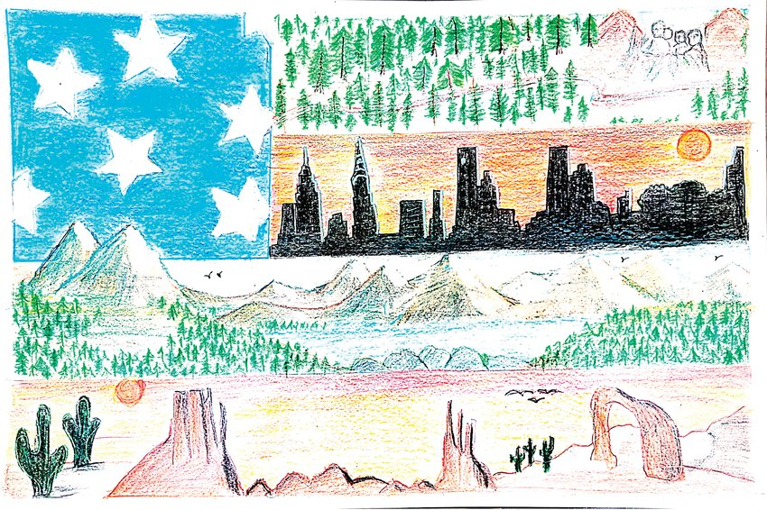 "The first-place winner in the division one competition was ""Faces of America"" by Anirudh Rao, a third grader at STEM School Highlands Ranch."
