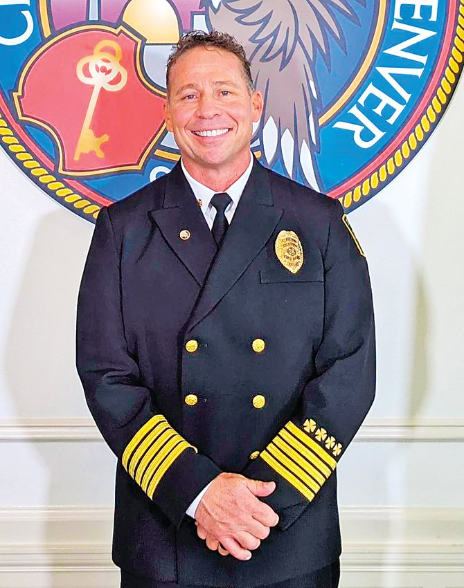 Desmond Fulton was sworn in as chief of the Denver Fire Department on Oct. 12.
