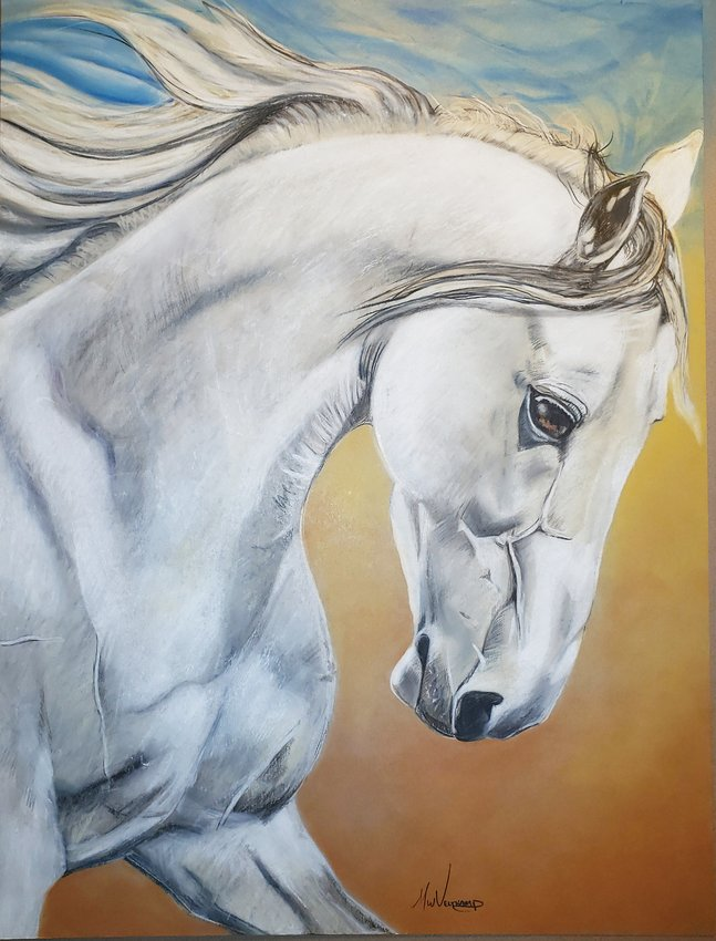 "Michael Veltkamp's colored pencil and pastel drawing, ""Freedom,"" won Best in Show at the ""This is Colorado"" exhibit."