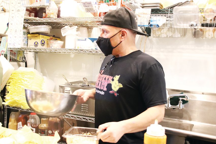 Gus Velez, co-owner of Chicken Shack, managed to keep 100% of his staff through the first wave of the pandemic in the spring, he said. Transitioning to a heavy reliance on take-out and to-go meals, Velez is confident they are more than ready to bear the winter and impending government shutdown orders.