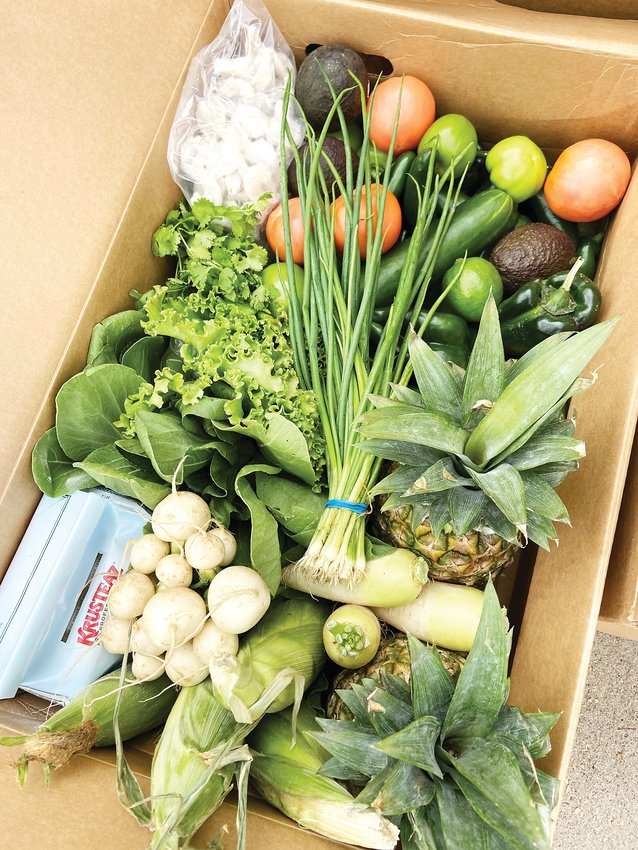 A Kaizen Food Rescue food share box.
