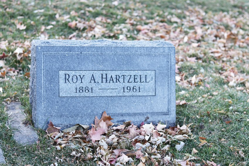 The grave of Roy Hartzell.