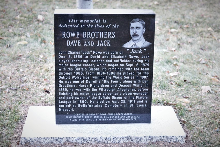 The Jack Rowe side of the Rowe brothers monument in the Golden Cemetery.