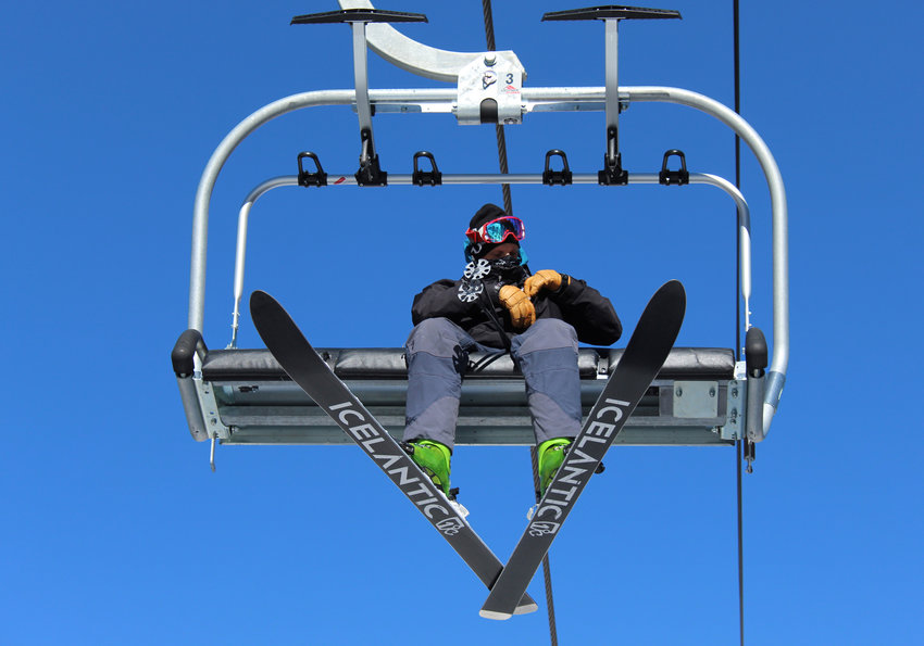 A skier rides Chet's Dream during Loveland Ski Area's Opening Day on Nov. 11.