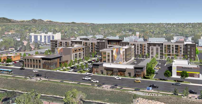A rendering of Morgan Group's proposed redevelopment of the Arvada Kmart site.