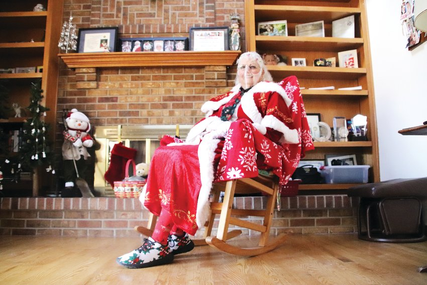 From her gold-laced glasses to her specially-made Santa shoes, Kam Breitenbach has become a Christmas celebrity in Parker for her portrayal of Mrs. Claus -- not just during the holiday season, but sometimes year-round. Her portrayal of Mrs. Claus, she says, gives kids the feeling that Christmas lives on, even during a pandemic.