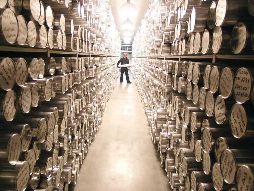 "Ice cores in the National Science Foundation Ice Core Facility located in Lakewood's Federal Center. Readers can learn more about the facility in ""Secret Denver."""