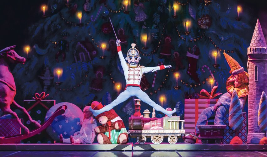 Bryce Lee performs in the Colorado Ballet's production of The Nutcracker in a previous year. This year, because of COVID-19 restrictions on gatherings, the Colorado Ballet has partnered with Rocky Mountain PBS to present the show on television.