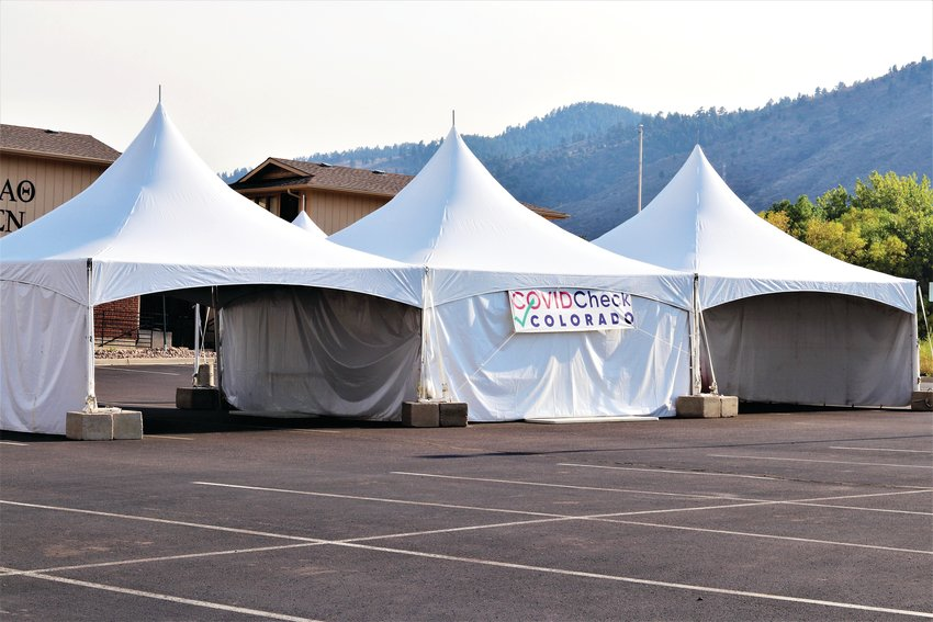 A COVID-19 testing center was set up months ago, in a parking lot, across the street from the School of Mines campus.