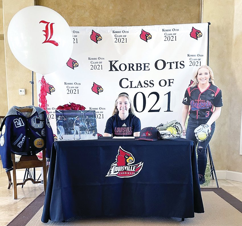 Columbine High School senior Korbe Otis, who helped the Rebels to a state softball title in 2019, signed her National Letter of Intent to the University of Louisville on Nov. 11.