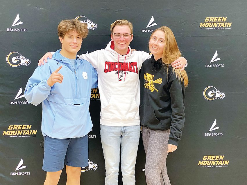 Green Mountain High School held a virtual signing celebration Nov. 11 for its National Letter of Intent signers — Isaias Estrada, Connor Brauch and KC Ossello.