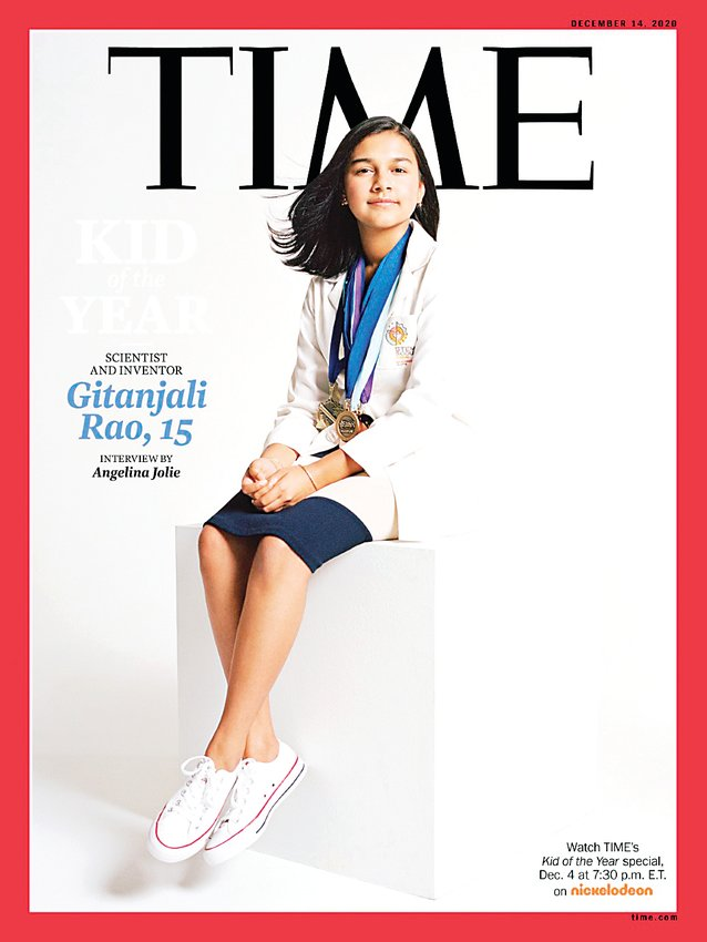Gitanjali Rao, 15, is the first-ever Kid of the Year named by Time magazine.