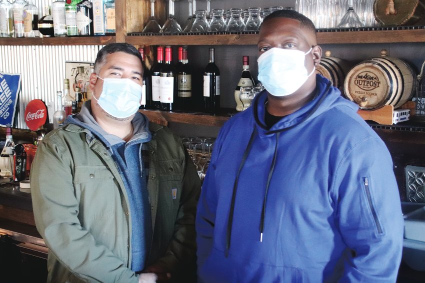 Fabian Valdez, left, and Derrick Cooper are Lone Tree restaurateurs who've teamed up to weather the pandemic. Both have innovative spirits and a passion for high-quality cuisine and are determined to continue to find new ways to keep their doors open.