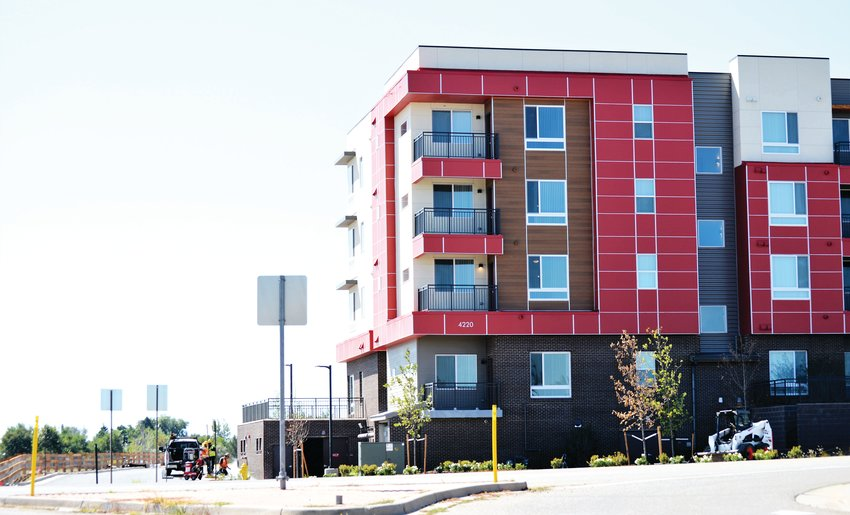 Crossing Pointe North, Unison Housing Partner's new active senior housing development on 104th and Colorado Boulevard, has started moving tenants in. The building is a short walk away from Thornton Station, the northern extent of RTD's N-Line commuter rail.
