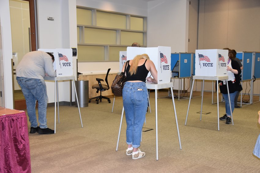 Adams County residents vote at the Adams County Government Center on Nov. 3.