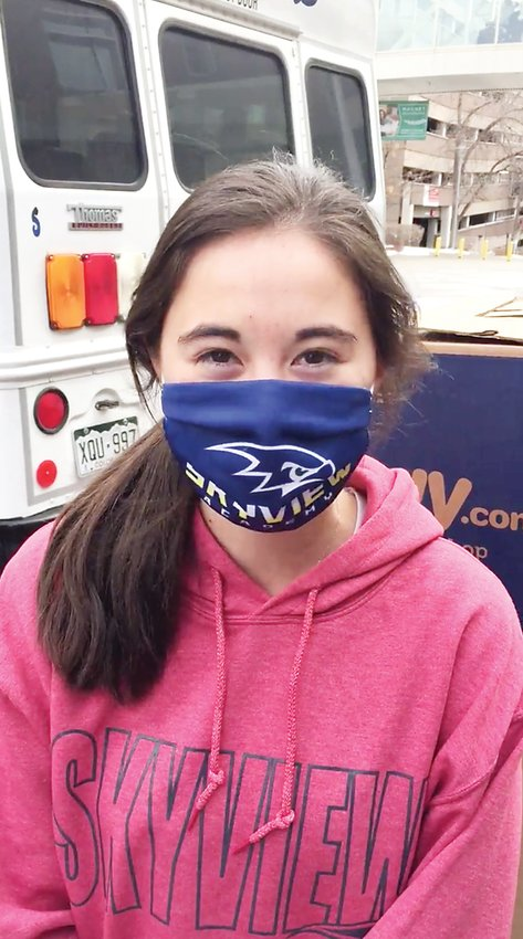 Siena Negron, 14, is a freshman at SkyView Academy and one of the students who volunteered to bring donations to the hospital.