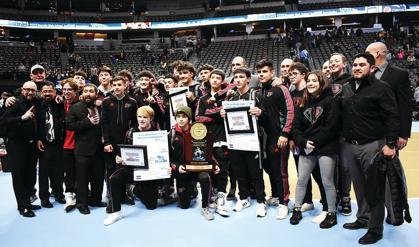 Pomona captured its fourth Class 5A wrestling team state title over the past five years Feb. 22 at Pepsi Center. The Panthers dominated placing 10 wrestlers and racking up 198.5 teams points that included three individual state champions.