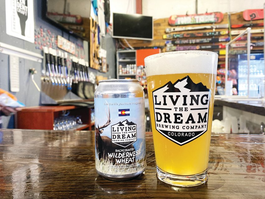 The Backcountry Wilderness Wheat is on draft and in cans at Living the Dream Brewing Company, located near the Chatfield Reservoir.