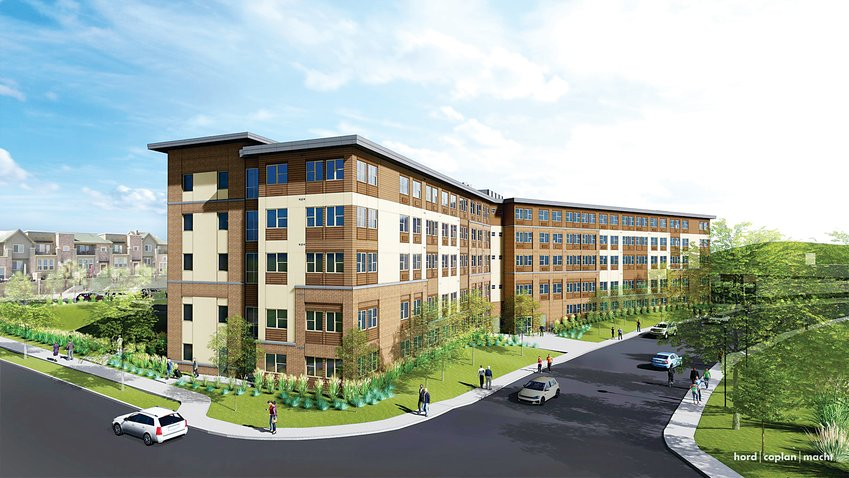 A rendering of The Audrey, located near the Town Center in Highlands Ranch. The project is planned to be completed by August.
