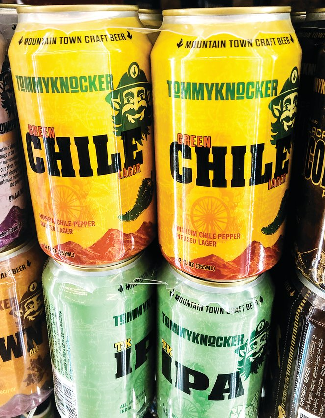 Tommyknockers Green Chile Lager in a Lakewood retailer.