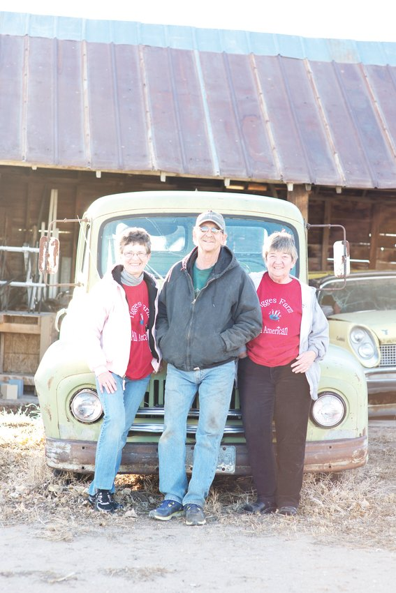 Kathy Rickart, Kenneth Tigges and Gale Loeffler of Tigges Farm in Greeley.