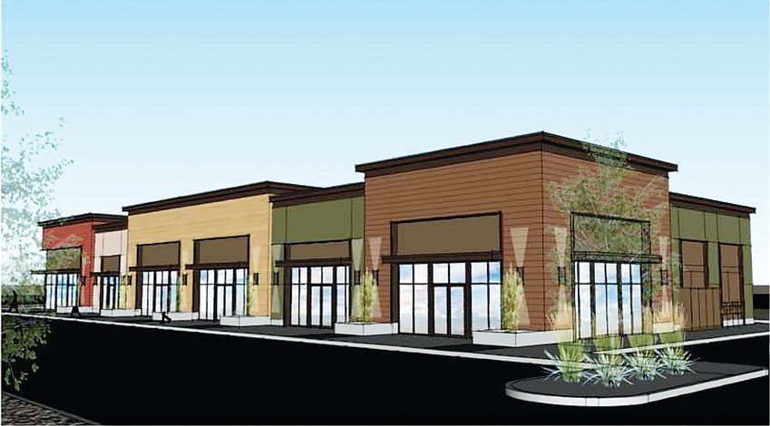 An artist's idea of what the commercial spaces at Thornton's Creekside Village would look like. Thornton City Councilors approved the first reading of the development, at the southwest intersection of Quebec and 128th Avenue, on Jan. 12.