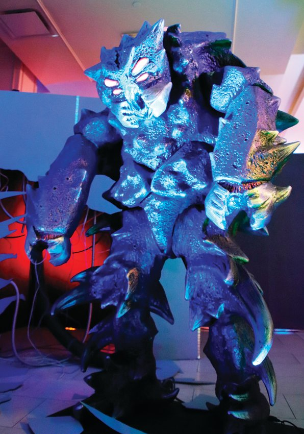 Many of the creatures on display at Distortions Monster World are well-known from movies, television or music, such as USDI from Star Trek Continues.