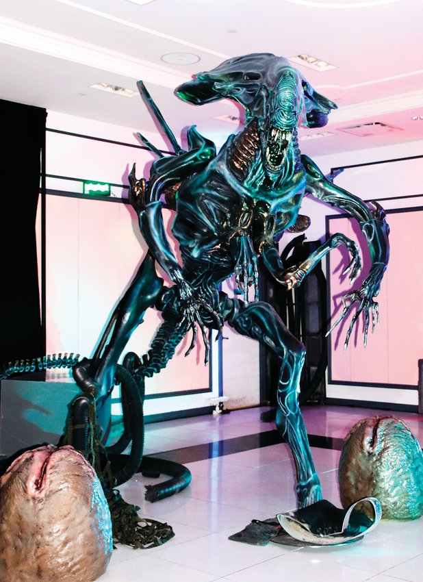 Many of the monsters on display at Distortions Monster World are well-known from movies, television or music, such as the Queen Alien.