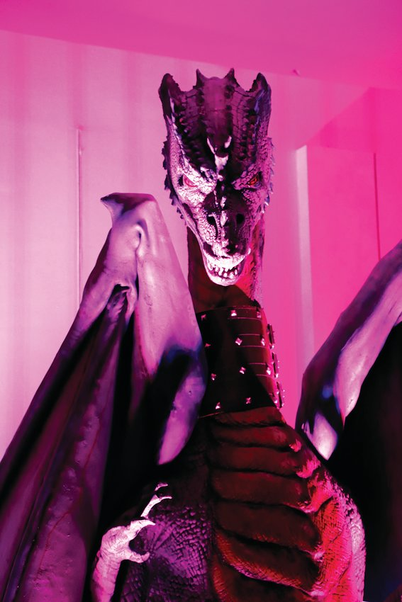 Distortions Monster World offers guests an opportunity to interact with fantasy creatures, such as this dragon.