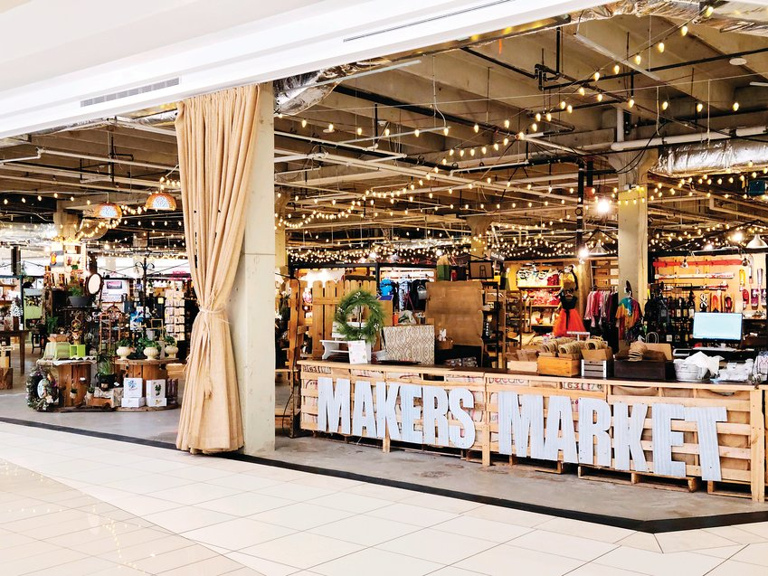 Makers Market in Southwest Plaza mall.