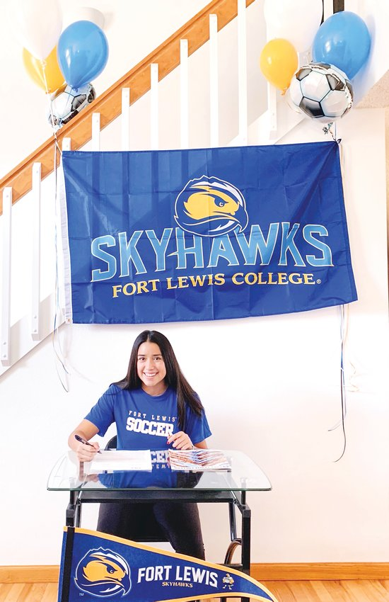 Danielle Gonzales of Legacy High School signs to play college soccer at Fort Lewis College.