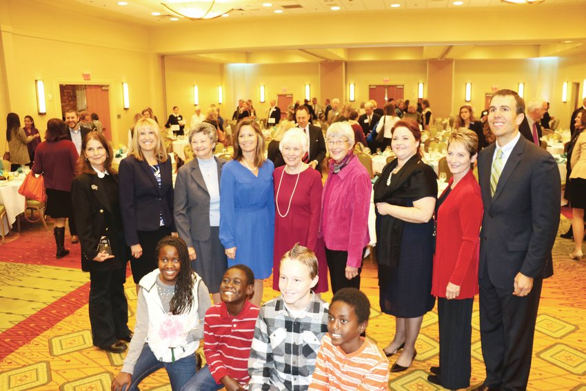 Norma Anderson, third from the left in the back row, was among the women leaders honored at this 2016 West Metro Chamber event.