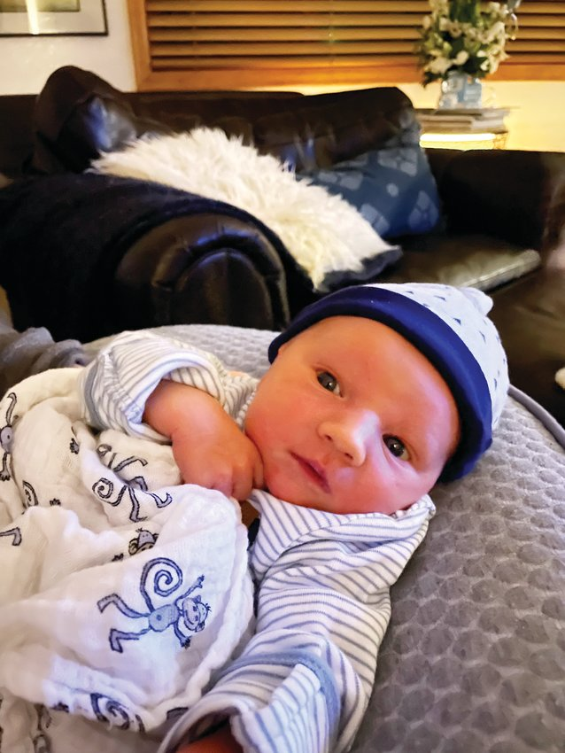 Adler Brass was born on Valentine's Day at his parents' home rather than the hospital. A calm dispatcher walked dad Doug Brass through what to do to help his wife Kait until Platte Canyon EMTs arrived just in time to deliver the baby.