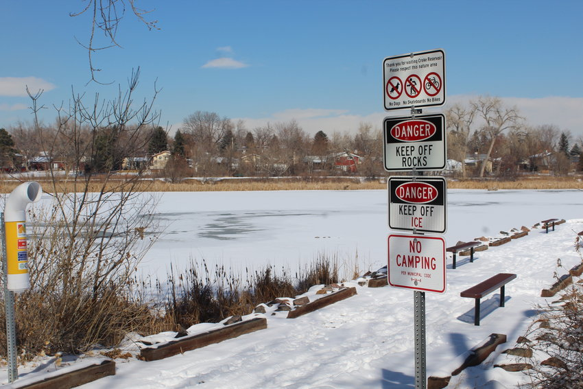 Croke Reservoir Nature Area in Northglenn, where people experiencing homelessness have camped before. In the winter, when it's snowy and cold, though, the county's Severe Weather Action Plan (SWAP) provides hotel vouchers to people who need shelter.