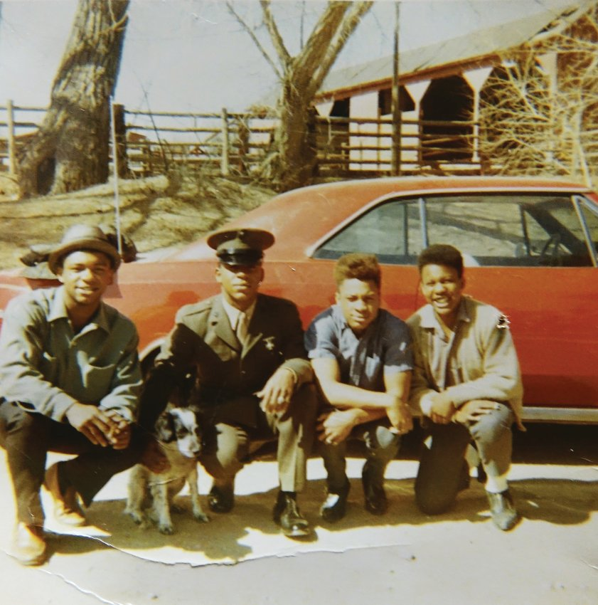 "Sons of George and Dorthy Johnson, former Littleton residents whose family has had a far-reaching impact on the Denver metro area. From left: Robert, Charles, George Jr. (nicknamed ""Bunny""), and Johnny Lee. In addition to the four sons, George and Dorothy had two daughters, GeorgeAnne and Dallas."