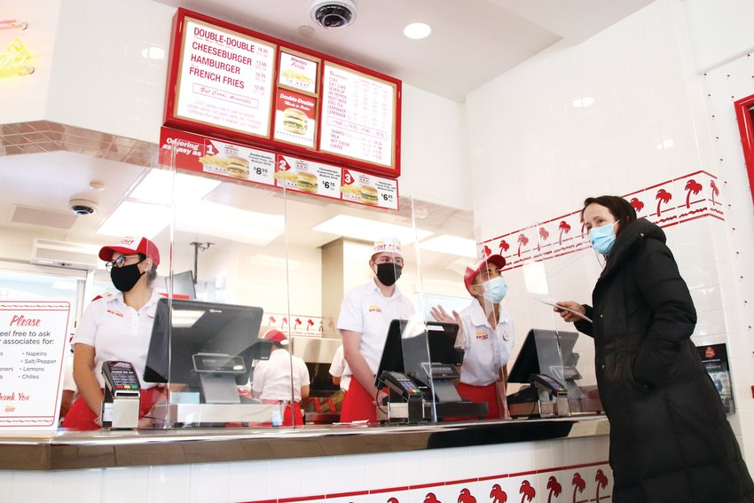 Although the restaurant did not allow dine-in during its grand opening, the In-N-Out in Lone Tree was open for carry-out orders as well as drive thru.