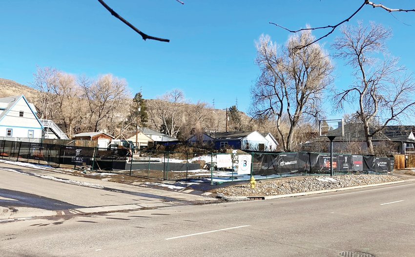 The site where a new office building and townhomes are being constructed at 21st and Ford Streets in Golden. The city of Golden is in the process of making changes to its sustainability codes that could mean new construction projects in the city would need to meet more stringent sustainability requirements.