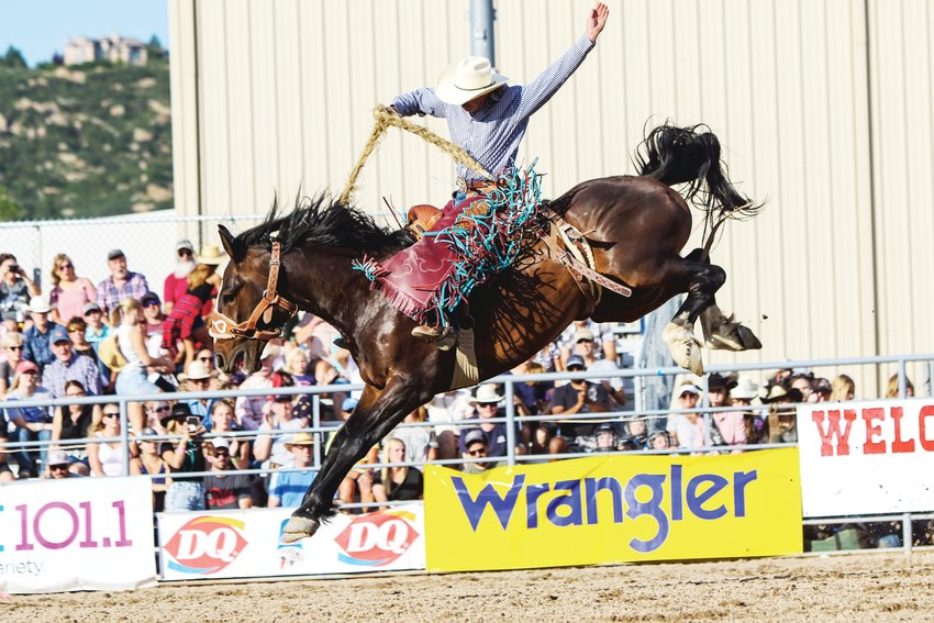 A rodeo rider at the Douglas County Fair, which is scheduled to come back for its 103rd year this summer.