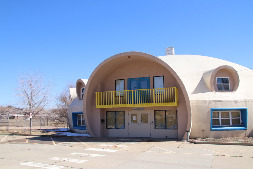 "The ""Spaceship House"" in Adams County, on the east side of Pecos Street. Neighbors wanted to preserve it and make it a community center, but due to an approved PUD amendment, a developer will demolish it to build new homes. The developer said it would be too much work to restore the building, an assessment that most Adams County commissioners agreed with."