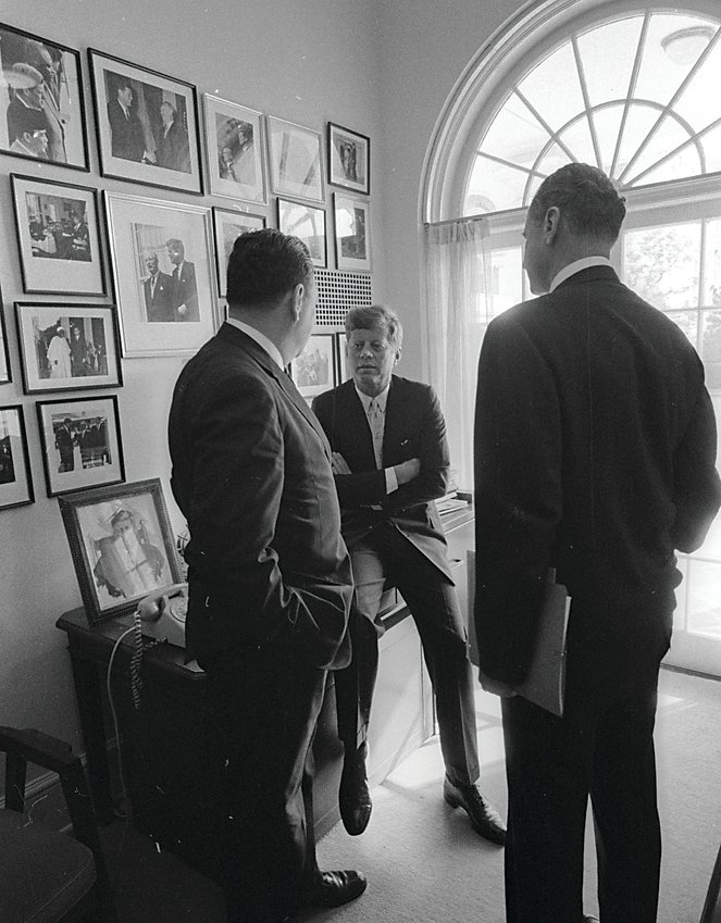 Photo of John F. Kennedy in the White House taken by Lowell Georgia.