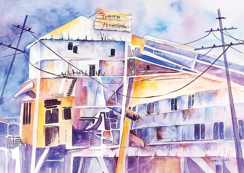 """Terra Terminal,"" a watercolor by Merrie Wicks, won Best of Show in the ""World of Color"" exhibit now open at Town Hall Arts Center in Littleton."