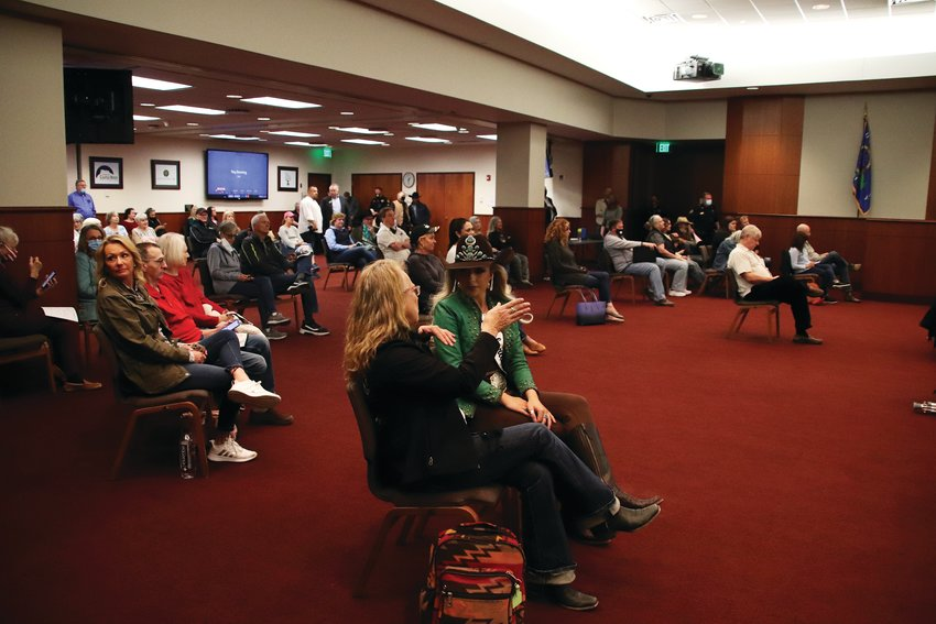 Residents from Douglas County and beyond came to the March 9 county commissioner meeting.