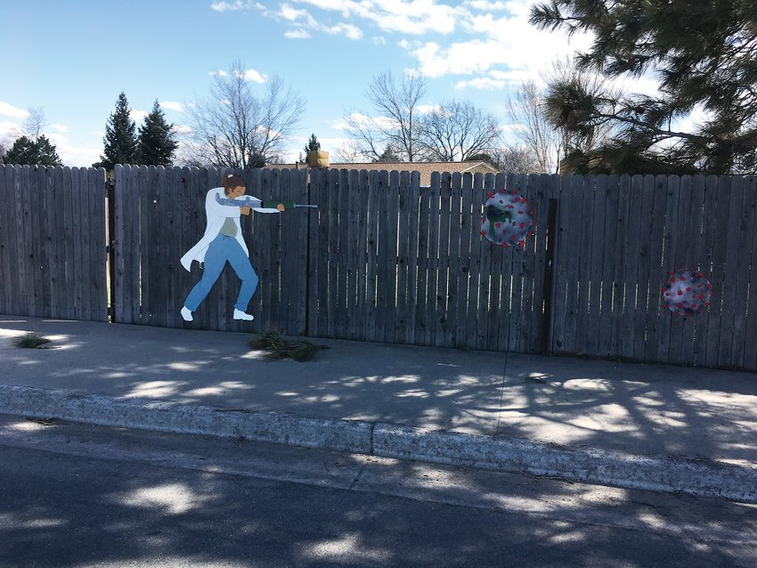 "Full image of McDaniel's ""Doc Fighter"" art installation, which was previously displayed at the intersection of 72nd and Ward in Arvada."