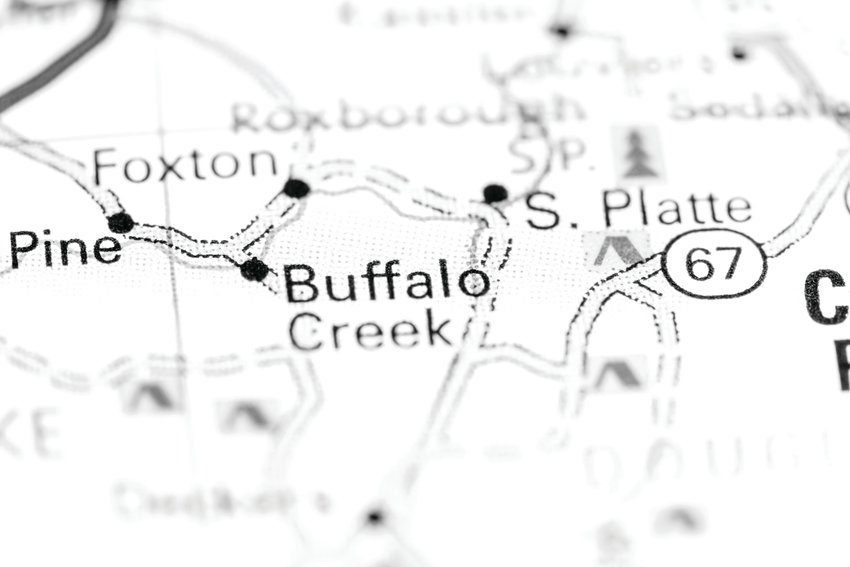 Buffalo Creek near the towns of Bailey and Pine is the site of extensive mountain bike trails and is the site of the annual Bailey Hundo race.