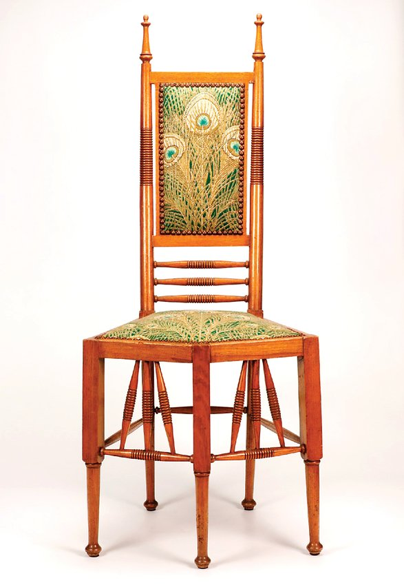 This Christopher Dresser five-legged chair will be exhibited when the Kirkland Museum reopens soon.