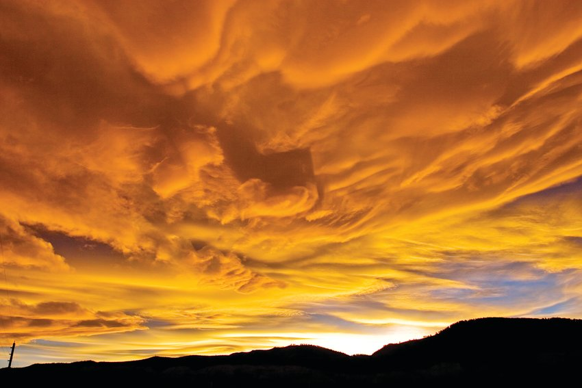 Dramatic sunsets are common throughout Colorado.
