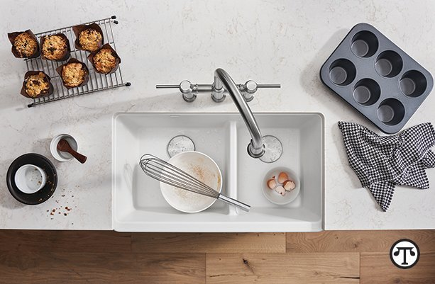 A beautiful kitchen sink such as BLANCO's IKON can help you turn out beautifully baked bread, cake, cookies and more.