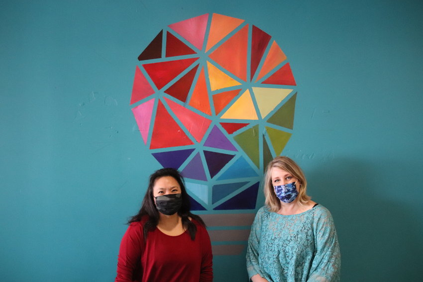 Sophia Sun, left, and Jennifer Winslow run The Thinkery, a community collaboration space at Aspen Grove.